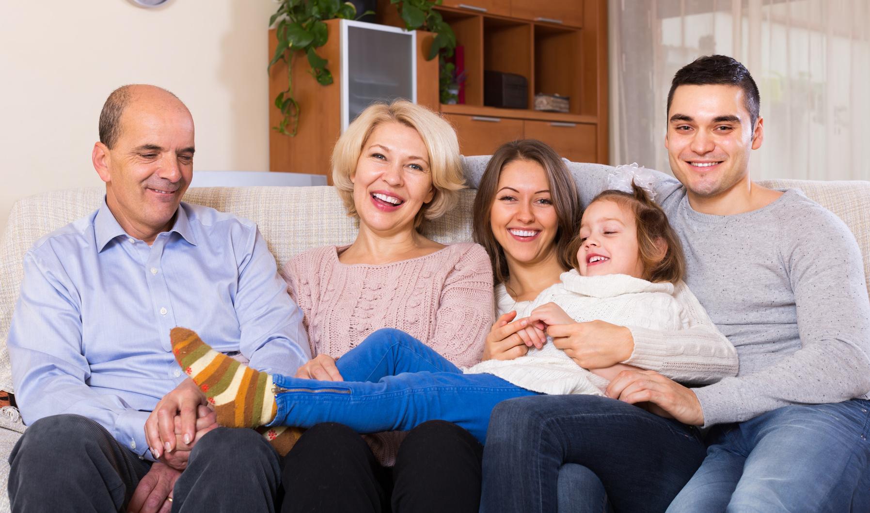 Portrait of big multigenerational family