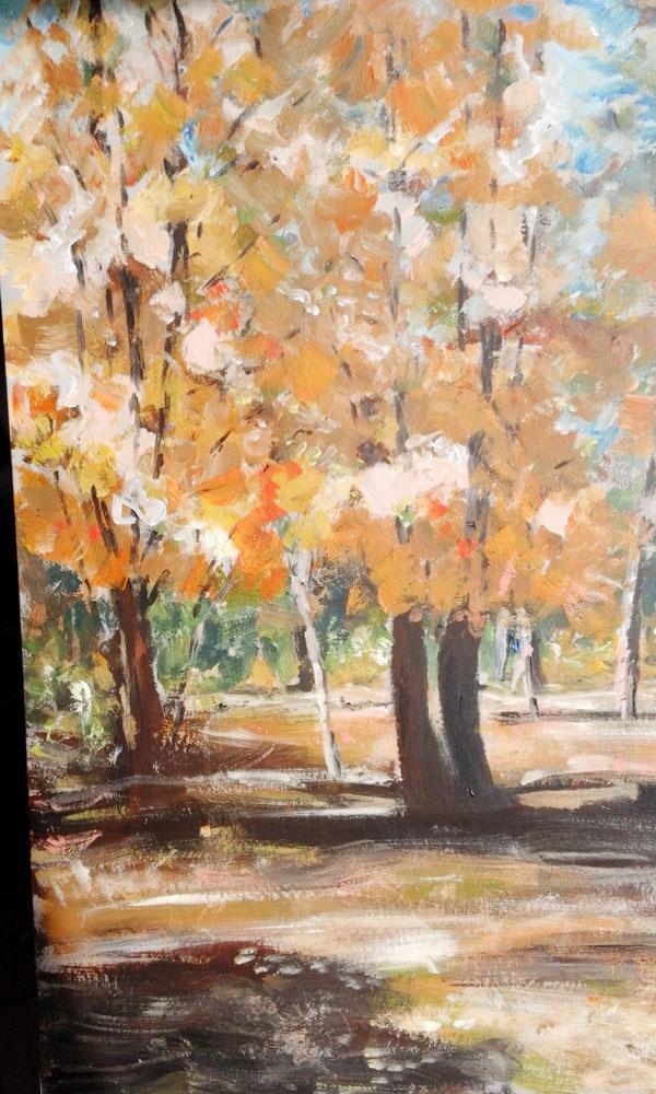 Las jesienią - akry 100X70 - 2015-1