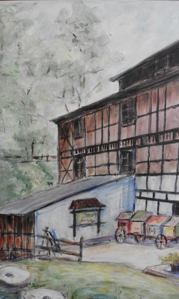 Stary młyn w Grucznie - akryl - 50X40-2015