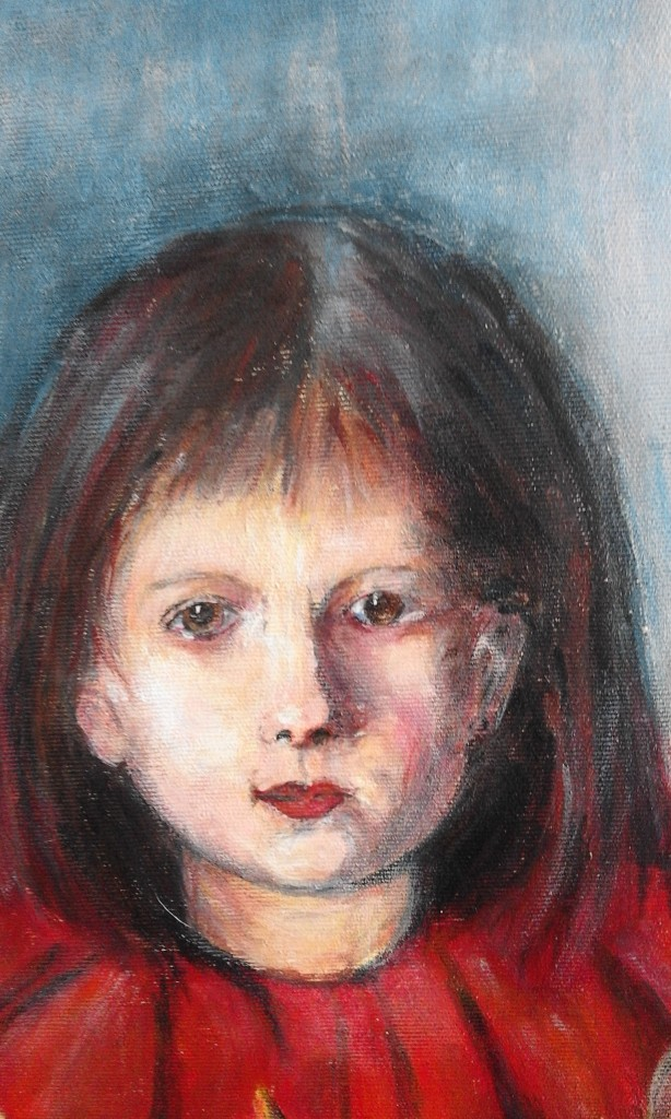 Portret dziewczynki-akryl 50X40 2015