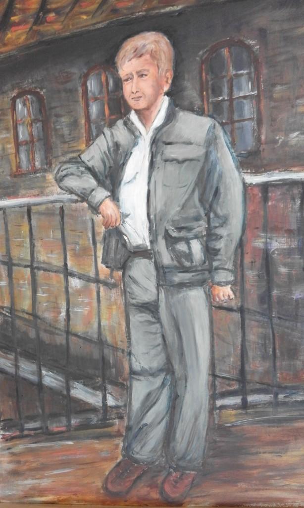 Portret mężczyzny 3 akryl 70X50 2016