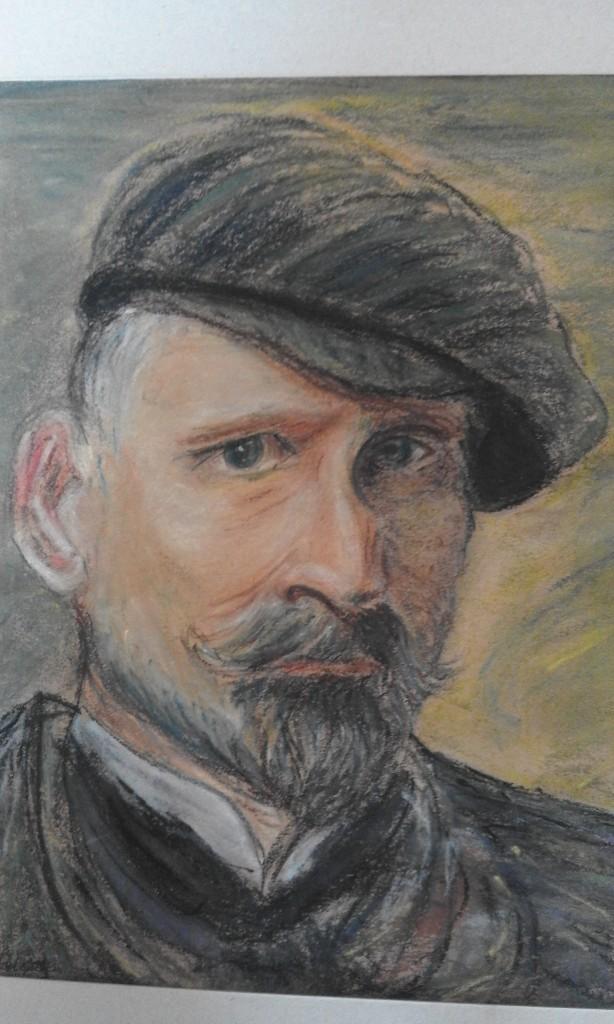 Portret mężczyzny pastel 40X30 2014