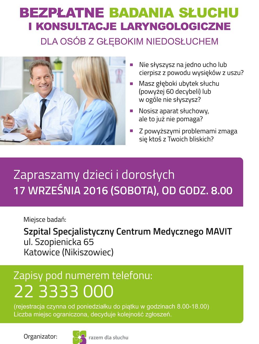 plakat badania s³uchu.cdr