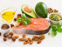 Set of food with high content of healthy fats and omega 3