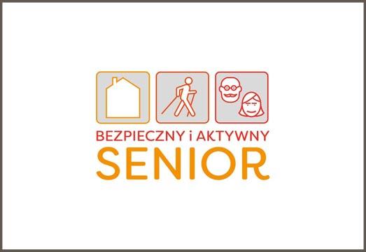 bezpieczny i akrtywny senior logotypy