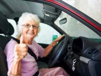 Confident driving grandma