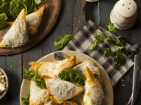 33143300 - homemade greek spanakopita pastry with feta and spinach