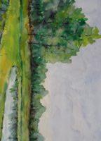 Stawy myślęcińskie,akwarela,30X20,2017