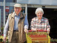 Senior couple goes shopping