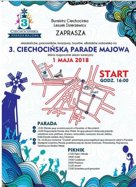 Parada majowa Ciechocinek