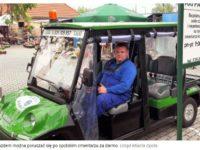 Na opolskim cmentarzu można za darmo jeździć elektrycznym pojazdem