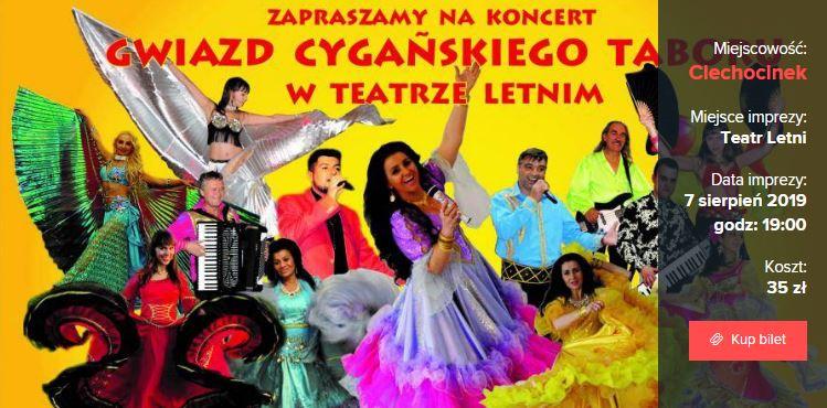 Koncert Gwiazd Cygańskiego Taboru w Teatrze Letnim w Ciechocinku