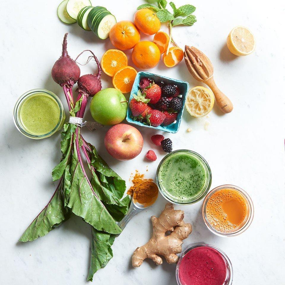 owoce warzywa soki